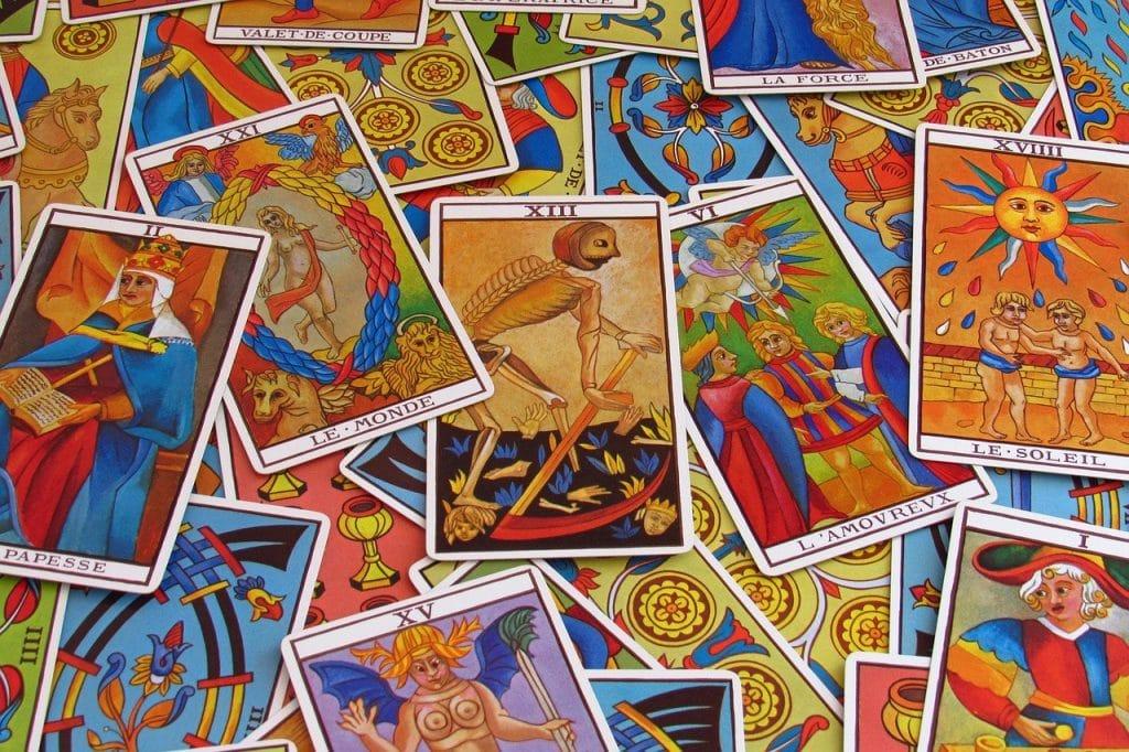 Une sélection de cartes de tarot